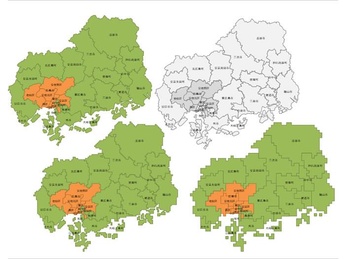 広島県の地図イラスト画像フリー素材 パワーポイントフリー素材の