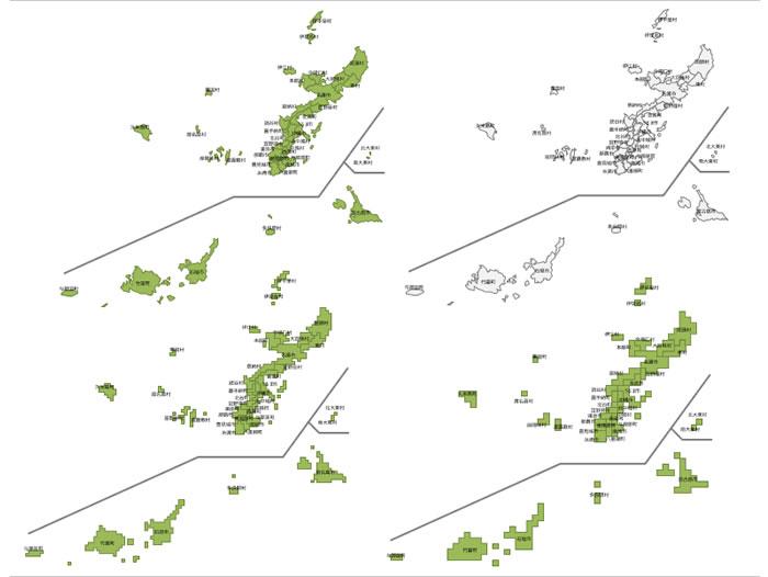 沖縄県の地図イラスト画像フリー素材 パワーポイントフリー素材の