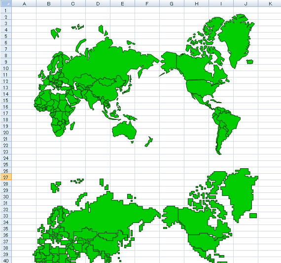 世界地図excelフリー素材 パワーポイント素材のdigipot