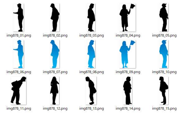 立っている女性のシルエットイラスト画像 ページ 6