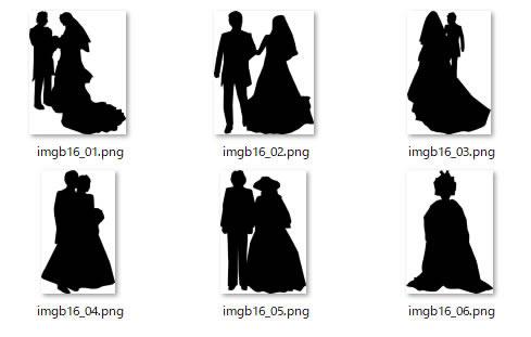 結婚式 ウェディングのシルエット 画像 フリー素材 無料素材のdigipot
