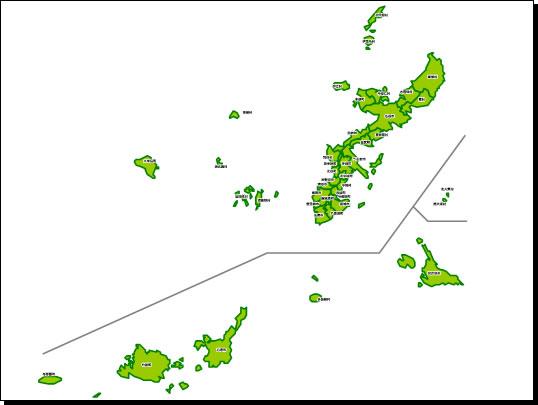 沖縄県地図a3サイズパワーポイントフリー素材 パワーポイント
