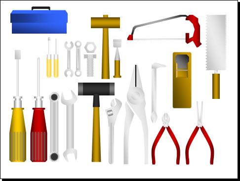 工具大工道具のイラストパワーポイント パワーポイントフリー