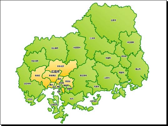 県 地図 広島
