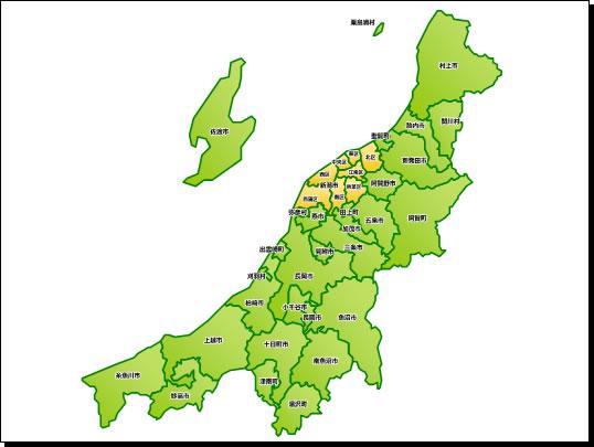 新潟県地図a3サイズパワーポイント フリー素材無料