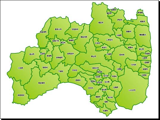 福島県地図a3サイズパワーポイントフリー素材 パワーポイント