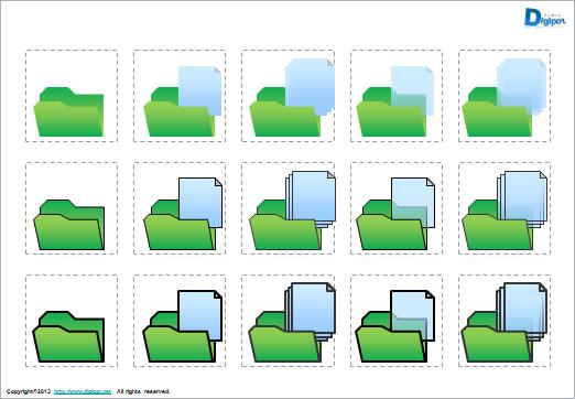 ファイル、フォルダのイメージ ...