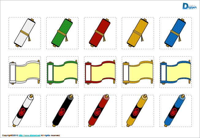 巻物のイラストパワーポイント パワーポイントフリー素材のdigipot