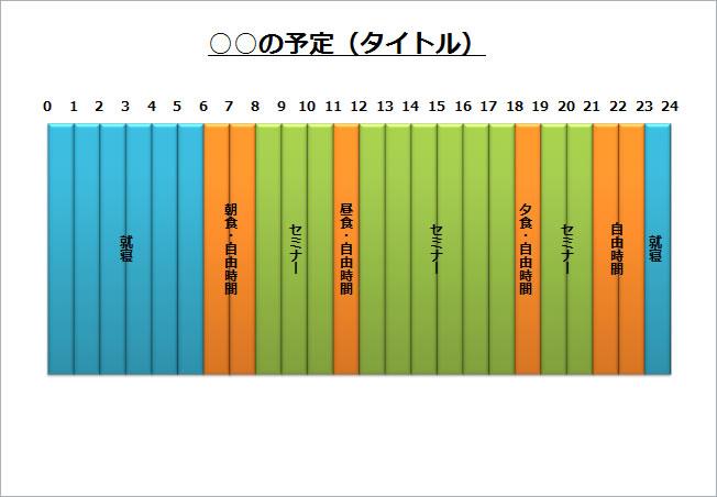 すべての講義 1日予定表 テンプレート : タイムスケジュール2(パワー ...