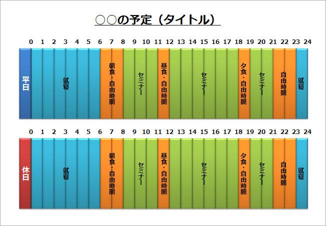 すべての講義 24時間スケジュール表 : タイムスケジュール2(パワー ...