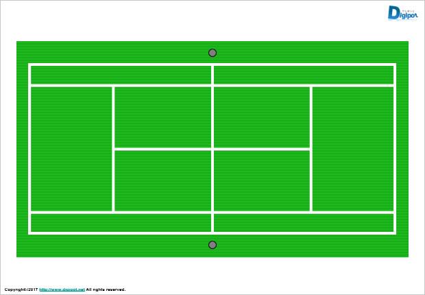 テニスコート図パワーポイント パワーポイントフリー素材のdigipot