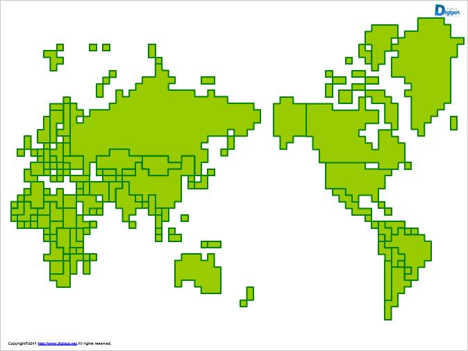 世界地図2パワーポイントフリー素材 パワーポイントフリー素材の